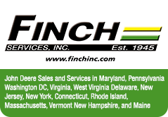 Finch Services Inc: John Deere Sales and Services in Maryland, Pennsylvania Washington DC, Virginia, West Virginia Delaware, New Jersey, New York, Connecticut Rhode Island, Massachusetts, Vermont New Hampshire, and Maine